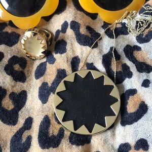 House of Harlow sunburst necklace black EUC